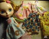 blythe, dal. pullip kawaii dress japanese cotton fabric super sale 2 x  30 made to order