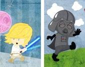 Baby Star Wars wall art - Set of eight 8x10 prints