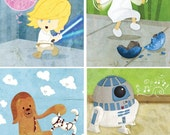 Baby Star Wars wall art - Set of eight 5x7 prints