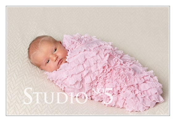 Pink Ruffle Blanket - Now even wider....40x36