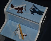Kids Personalized 2 Step Stool -- AIRPLANES