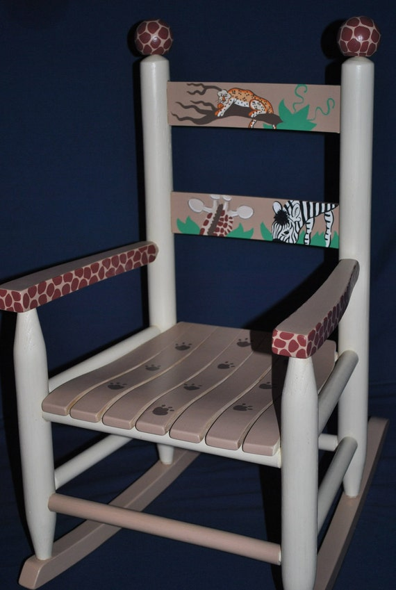Items Similar To Childrens Custom Hand Painted Rocker