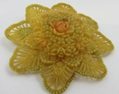 Vintage Celluloid Brooch Flower Pin Celluloid Jewelry