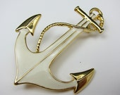 Anchor Brooch, Vintage Nautical by Parklane