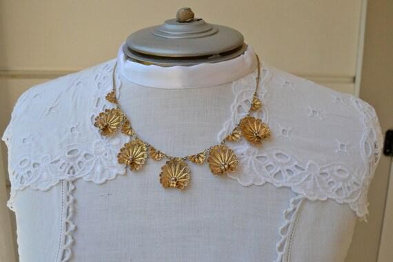 Vintage Italian Sterling Silver Necklace Vermeil