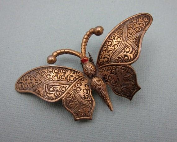 Butterfly Brooch Vintage Spain
