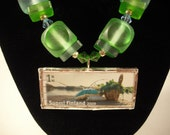 By the Water - Finland Postage Stamp Soldered Glass Necklace