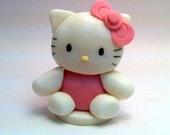 "4"" Fondant Hello Kitty Inspired Cake Topper - Reserved listing for xtinavilla01"