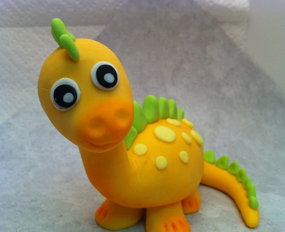 Dinosaur Cake Decorations Toppers : Items similar to 3