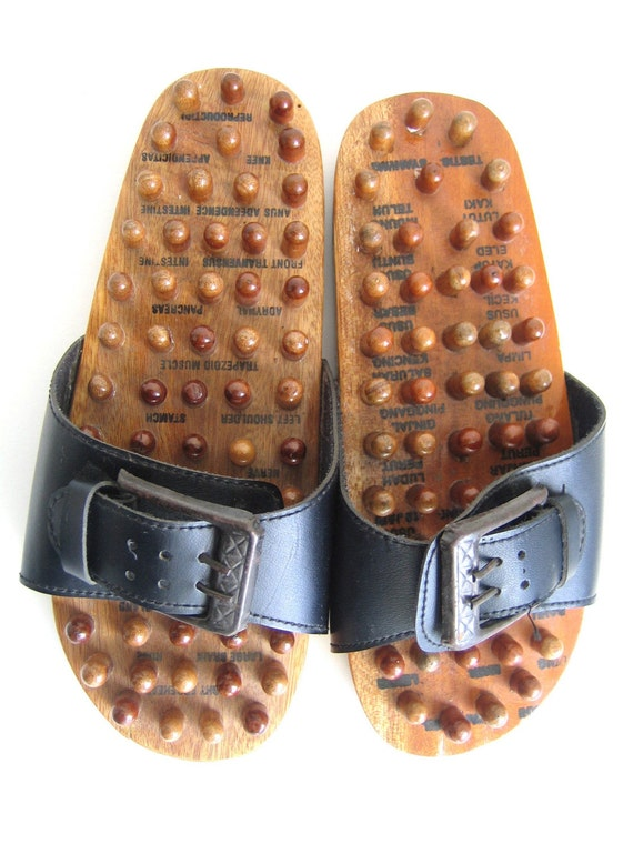 Balinese Wooden Sandals Shoes Acupressure Reflexology