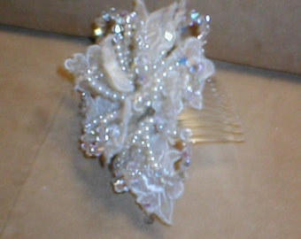 Bridal Headpiece Comb of Crystals