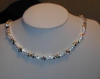 Vintage NAPIER Rhinestone Necklace signed