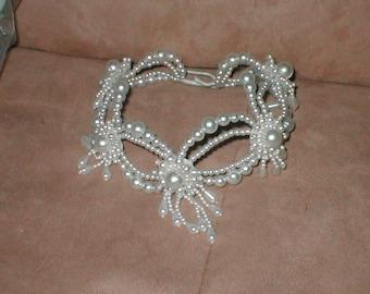 Bridal Wedding Headpiece of pearl beads