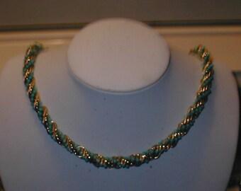 Vintage 1950s faux Turquoise Necklace