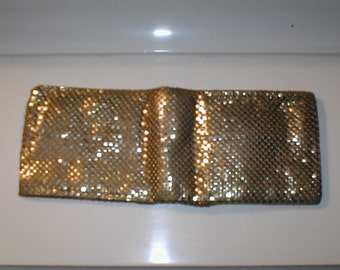 Vintage Whiting and Davis Gold Metal Mesh Wallet