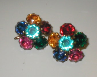 Vintage Ladies Rhinestone Cuff Links