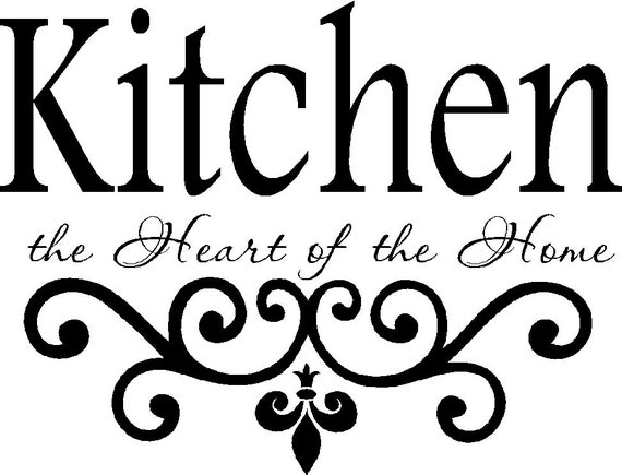 Kitchen Vinyl Wall Decal Kitchen The Heart Of The Home