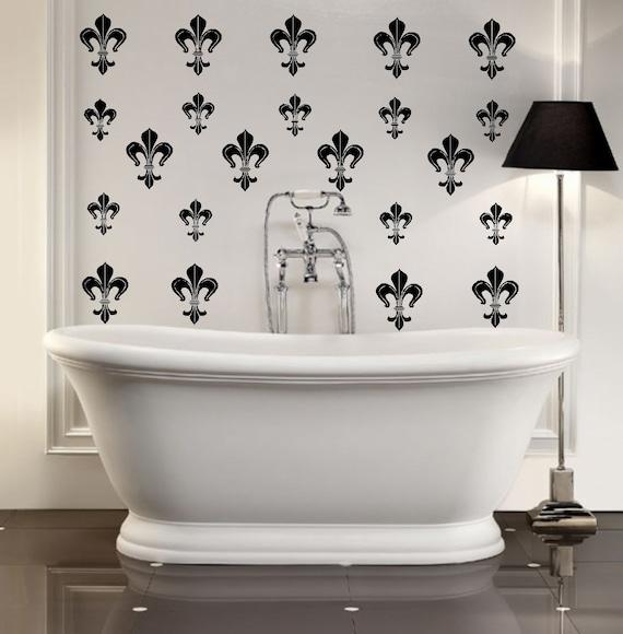 Fleur De Lis Pack Of 28 Wall Decal Sticky Art Wallpaper