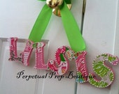 Lilly Pulitzer Print Little Sister Sorority Wall Hanging - Preppy Essential