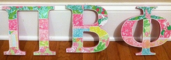 Lilly pulitzer greek letters pi beta phi sorority for Lilly pulitzer sorority letters