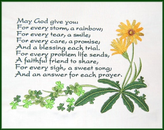 Items Similar To May God Give You Irish Blessing Quilt