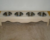 small dog/cat food bowl stand 4 bowl elevated feeder