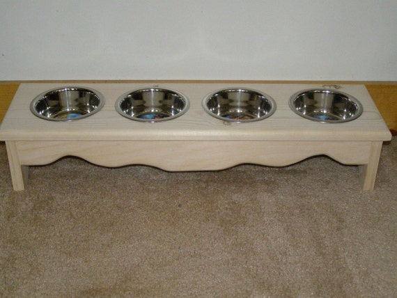 Items Similar To Small Dog Cat Food Bowl Stand 4 Bowl
