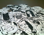 One Hundred Faces (sticker set)