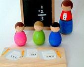 My Little School - Wooden Dolls - Back To School Play Set