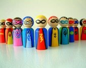 Wooden Super Hero Doll