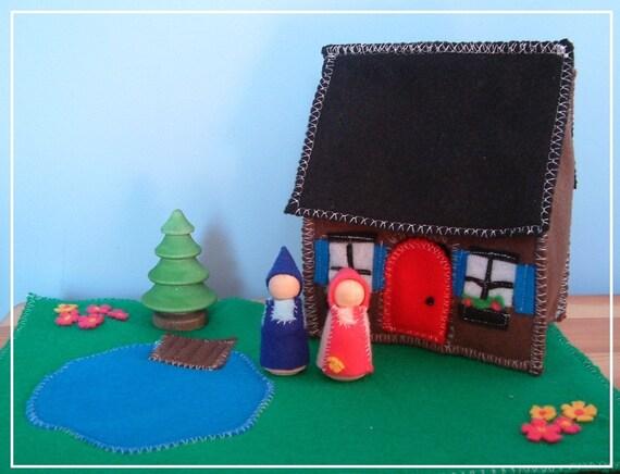 Cozy Cottage - Wooden Felt Set