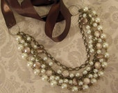 Anne Bonny Set, a Pearl Necklace and Earrings Set