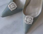 Rhinestone Crystal Shoe Clips, Bridal Shoe Clips, Wedding Shoe Clips, Bridesmaids - HATHAWAY