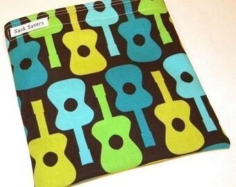 Reusable Sandwich Bag Groovy Guitar Eco Friendly