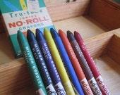 Art Supply Case in Wood and Milton Bradley Tru-tone Crayons