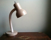Perfect Vintage Tan and White Desk Lamp
