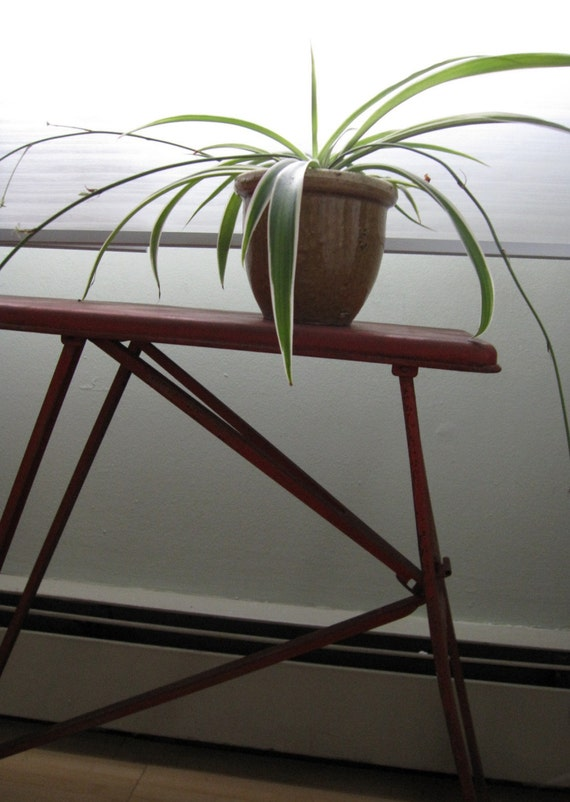 Antique Children's Red Metal Ironing Board