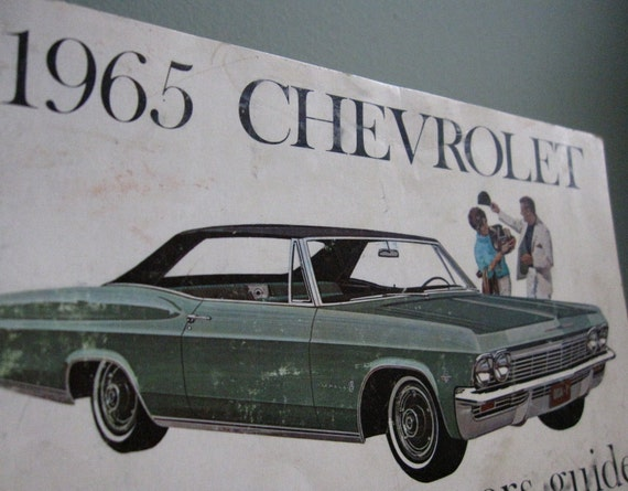 Black Friday / Cyber Monday Sale 1965 Chevrolet Impala Owners Guide
