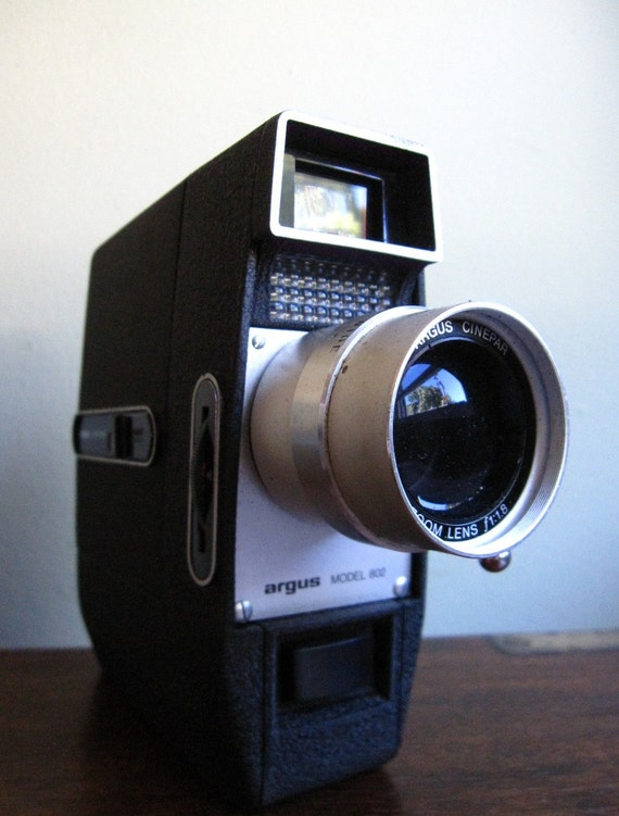 vintage argus super 8 model 802 8mm camera ca 1966 by apkvintage. Black Bedroom Furniture Sets. Home Design Ideas