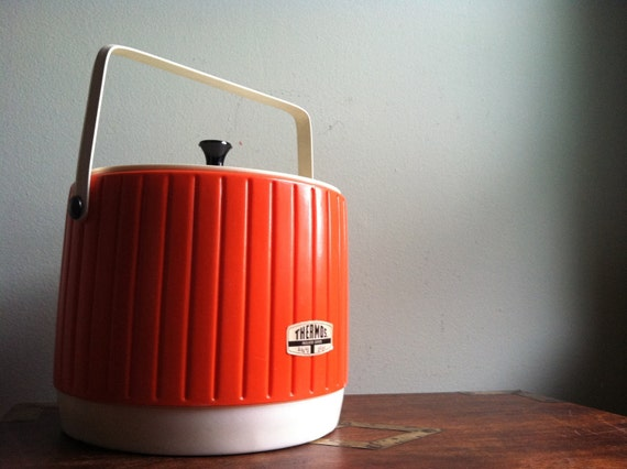 Totally 70s Bright Orange Thermos Ice Bucket