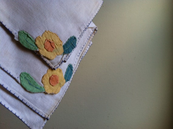 1 Dollar Hankie Sale - Pair of Delicate Vintage Floral Handkerchiefs