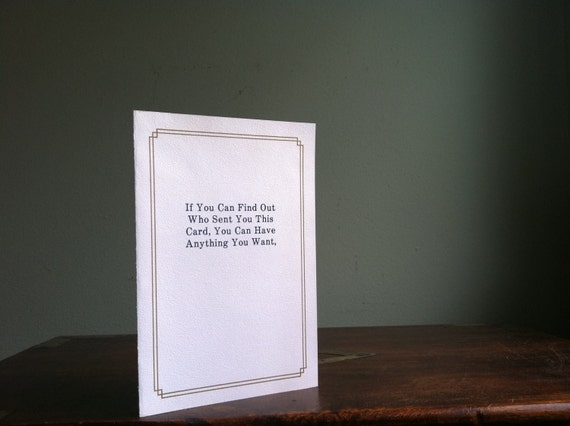 Super Funny Vintage Greeting Card by Anonymously Yours - Sexy