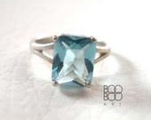 Aquamarine Ring - Sterling Silver Ring