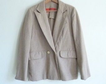camel tan boyfriend blazer, small medium