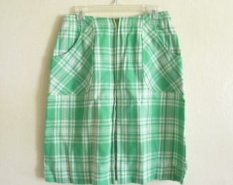 spring skirt in bright green, xsmall