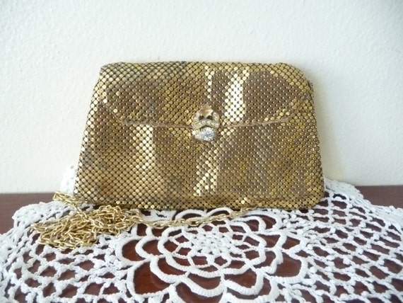 party mini clutch shoulder bag in gold, whiting & davis