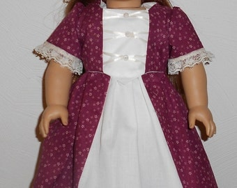 Old Fashioned Victorian Style Gown fits 18 inch Doll