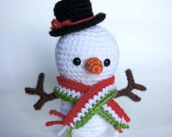 Amigurumi Crochet Snowman Pattern