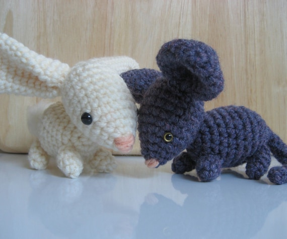 Amigurumi Crochet Bunny and Mouse Pattern