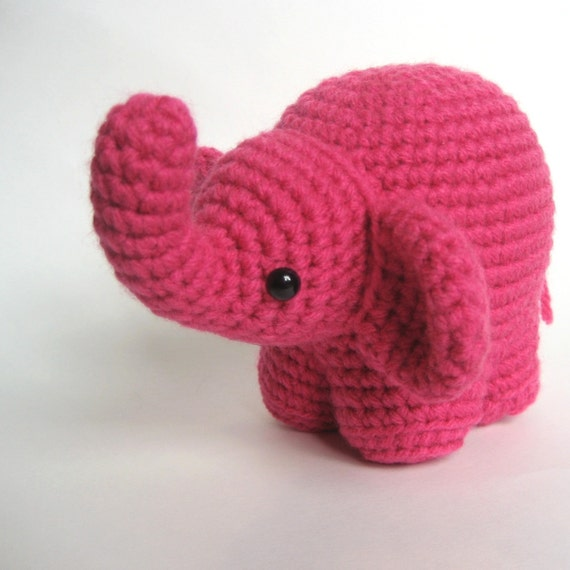 Amigurumi Askina Etsy : Amigurumi Crochet Elephant Pattern by MsPremiseConclusion ...